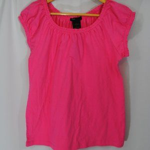 Hot Pink Short Sleeve Shirt